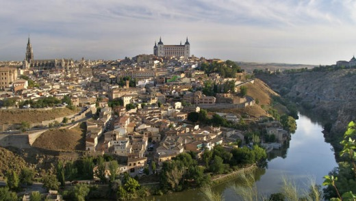 Toledo, beside the Tagus River.