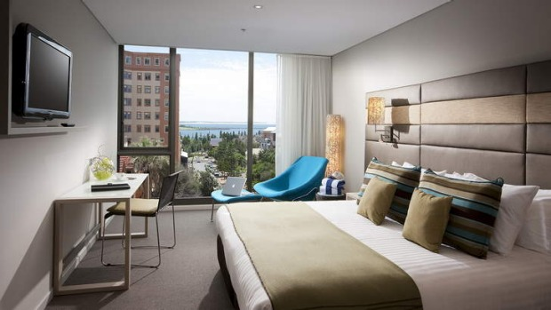 Good as new: Novotel Newcastle overlooks the beach in the eastern part of the city, which has a burgeoning food and wine ...