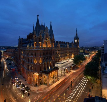 The exterior of the St Pancras Renaissance Hotel in London