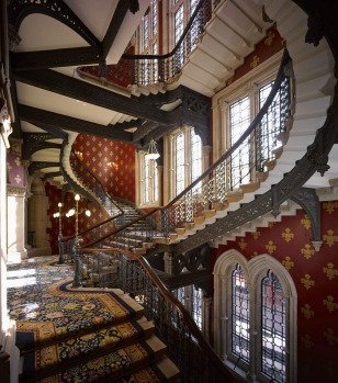The Grand Staircase at the St Pancras Renaissance Hotel in London