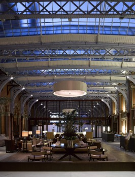 The lobby at the St Pancras Renaissance Hotel in London