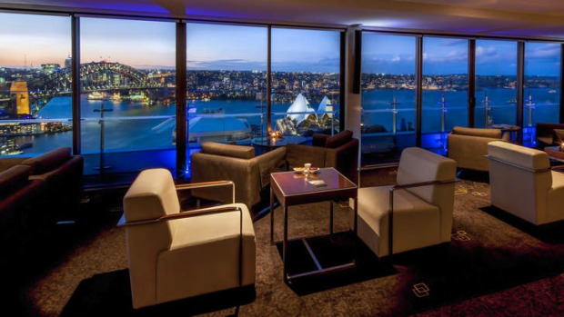 The Intercontinental Sydney's Club Lounge.