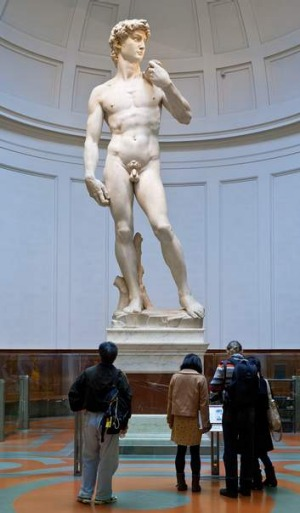 <i>David</i> by Michelangelo at the Galleria dell'Accademia in Florence.