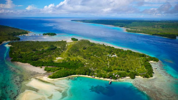 Pristine paradise: Ratua from above.