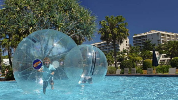 Walk on water: Ozbobbling is one of a number of water-based activities the kids will love.