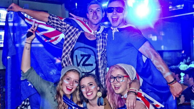 Australia Day celebrations at The Longhorn Saloon & Grill, Whistler.