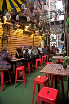 An outdoor bar in Melbourne, VIC.