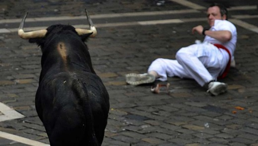 San Fermin Festival, Pamplona, Spain. Who knew running around with angry, full-grown bulls in an enclosed space could be dangerous?