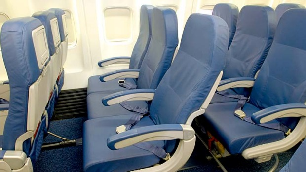 Slimmed down ... Delta Air Lines' new seats.