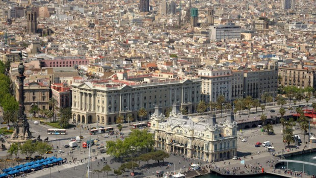 A city at your feet: Barcelona.