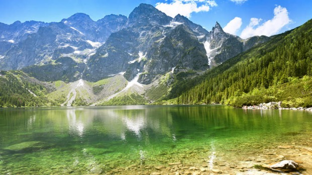 'Morskie Oko' Lake in the Tatra Mountains.