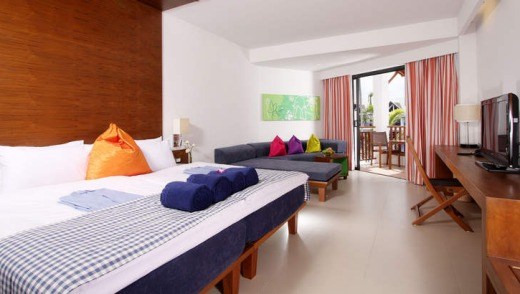 A guest room at the resort.