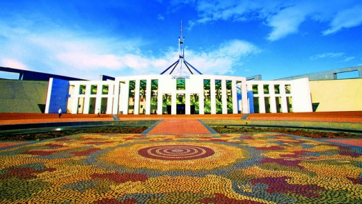 Canberra's Parliament House.