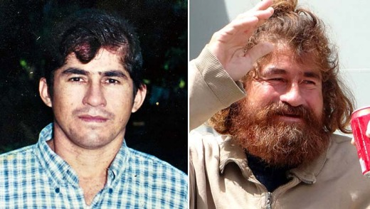 Before and after: Jose Salvador Alvarenga's fishermen friends believed he was dead.
