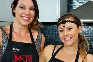 My Kitchen Rules contestants Chloe and Kelly. We don't care how many countries you've been to.