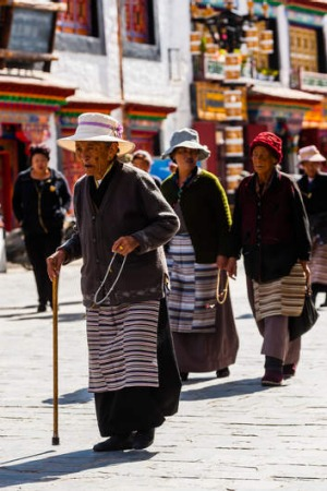 Old Lhasa, Tibet, now under Chinese rule.