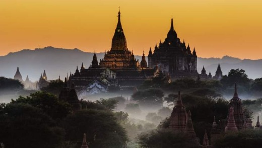 The great temples of Bagan, Myanmar.