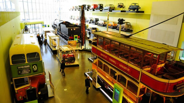 All aboard: Old meets new at the Riverside Museum of Transport.