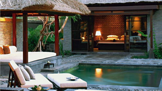 Private luxury: the Sentosa Seminyak in Bali, where Schapelle Corby is staying.