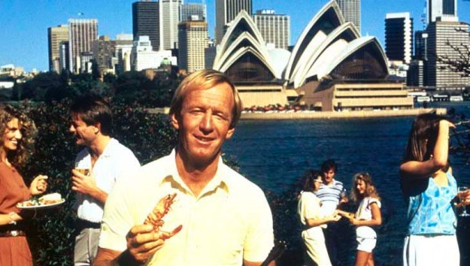 Shrimp on the barbie ... the 'Come and say G'day' campaign from 1984 starring Paul Hogan helped put Australia on the ...