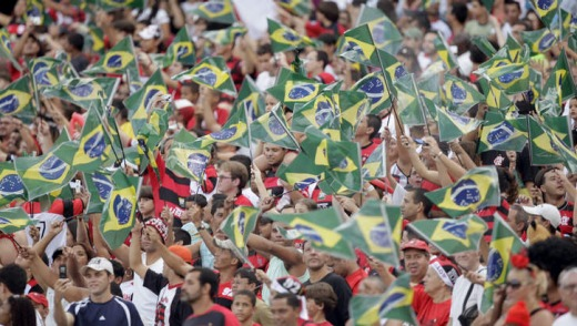 Football frenzy in Maracana Stadium.