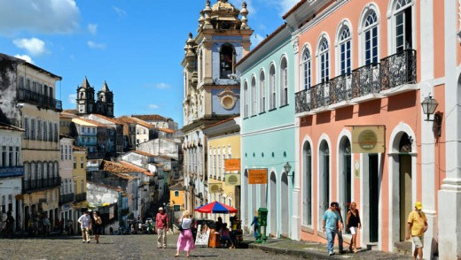 The old town of Salvador de Bahia.