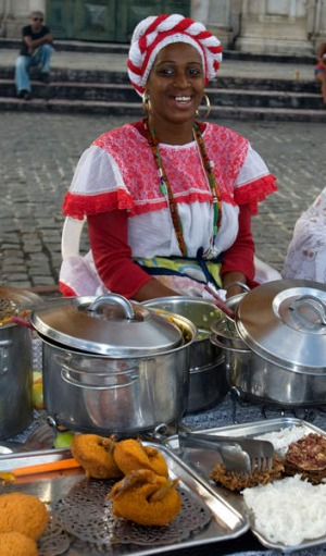 Street food in Salvador de Bahia.