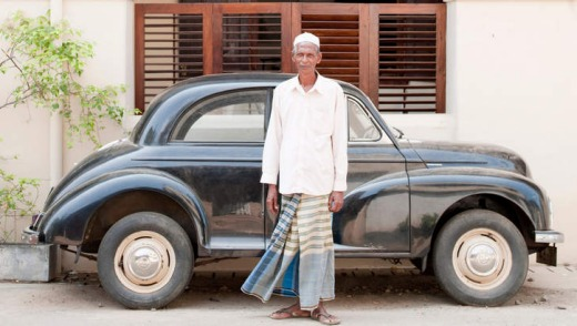 A local resident in Galle.