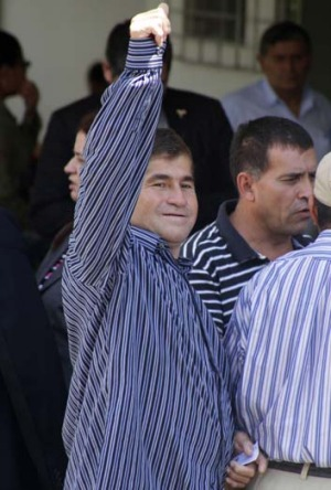 Thumbs up: Jose Salvador Alvarenga.