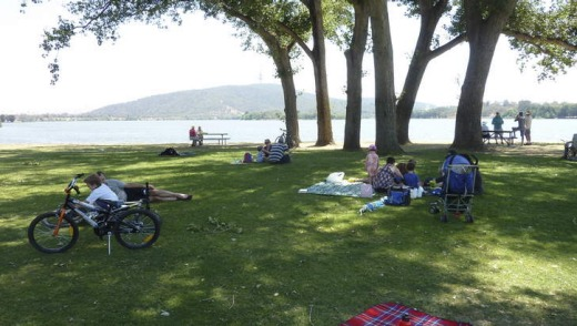 A lazy Saturday on the lawns at the Canberra Yacht Club.
