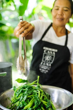Balinese home-style cooking.
