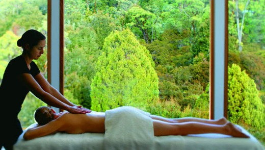 Relaxing at Cradle Mountain Lodge.