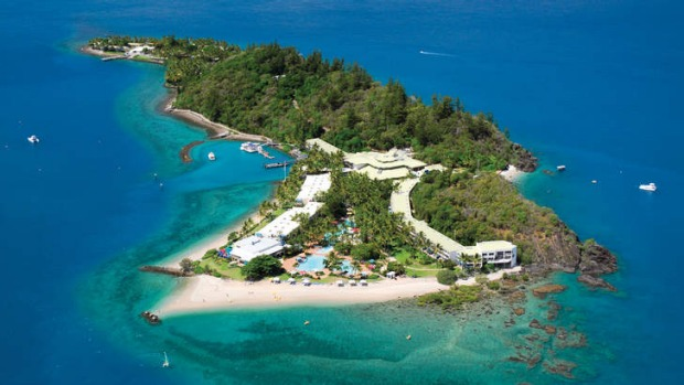 Daydream Island in the Whitsundays. The Whitsundays remain the most expensive place in Australia, on average, for a room.