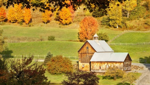 Fall blush: Autumn in Vermont.