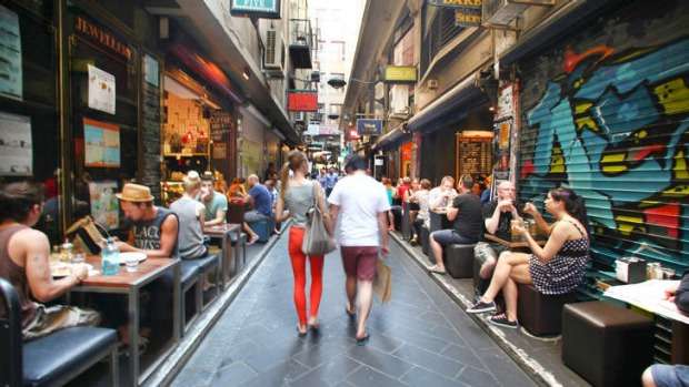 Happy discoveries: laneway life.