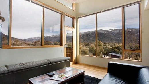 Snow views from one of Lake Crackenback Resort's luxurious mountain chalets.          LCR view.bmp