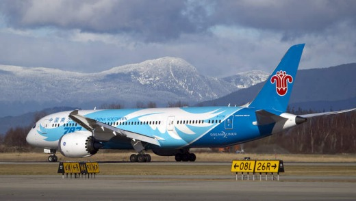 China Southern Airline's Dreamliner.