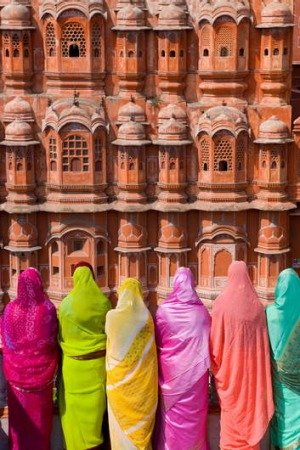 Colour and chaos: the Palace of the Winds in Jaipur.