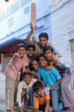 Cricket-loving boys in Jodhpur.