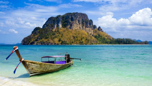 Unspoiled: a Thai longtail boat.