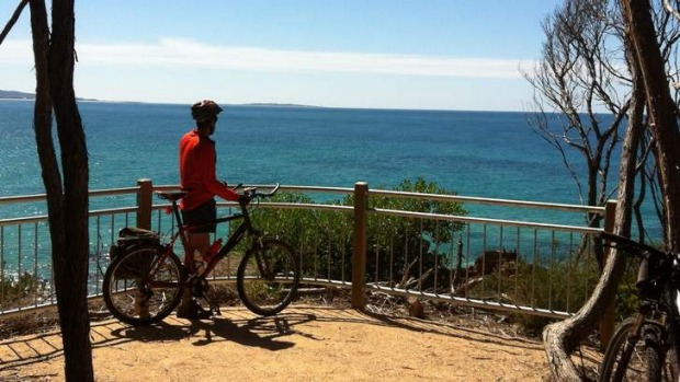 Cycling in Mallacoota, Victoria.