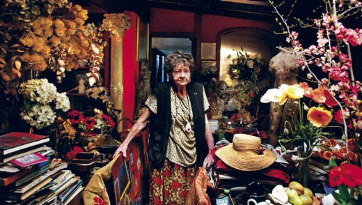 Margaret Olley in her Paddington home.