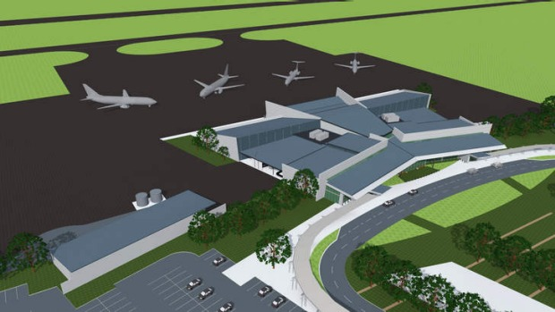 Artist's impression of the Brisbane West Wellcamp Airport