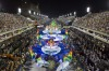 Performers from the Imperio da Tijuca samba school parade on a float during carnival celebrations at the Sambadrome in ...