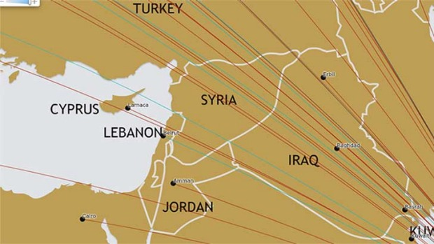 Israel and its major cities have been left off the flight map on Etihad's website.