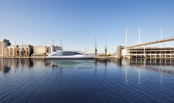 Sunborn London is set to open at London's Royal Victoria Dock in April.