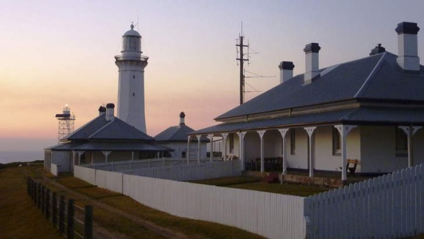 Green Cape Lighthouse Cottages at dawn.