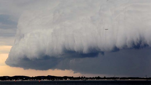 The pilots of the Qantas flight flew around the severe storm.