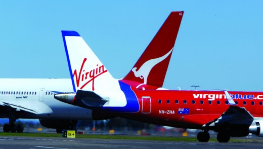 Virgin Australia and Qantas have grounded flights to and from Darwin Airport.