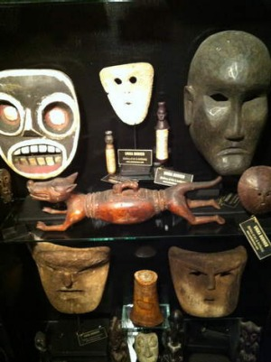 Masks for sale at the waterfront.